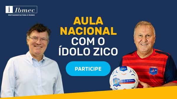 O craque Zico conversa com o CEO da Yduqs Eduardo Parente.